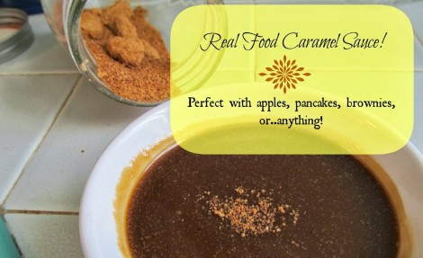 Real Food Caramel Sauce, for your apple, pancakes, monkey bread or just because. It's that good! // The Ezer Wife