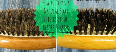 Finally dive in and buy that natural boar bristle brush? Notice how it seems to get gunky after even a few brushes? Keep it clean easily with this simple tutorial!