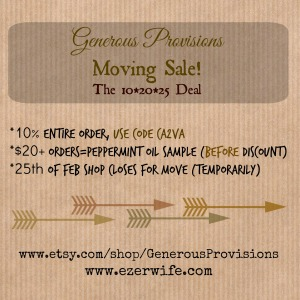 February 2015 Moving Sale // www.etsy.com/shop/GenerousProvisions