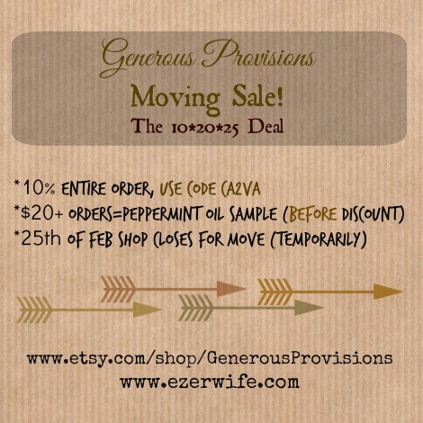 February 2015 Moving Sale // Generous Provisions by The Ezer Wife