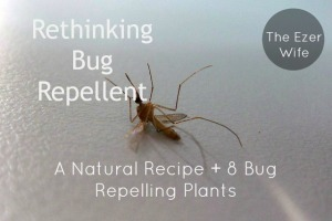 Looking for a natural bug repellent that works? Give this recipe a try, plus 8 bug-repelling plants to plant in your backyard! // The Ezer Wife