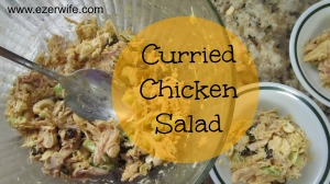 An easy and delicious recipe, Curried Chicken Salad. Great for summer months! // The Ezer Wife