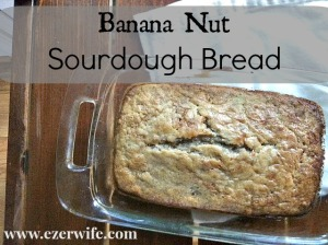 This Banana Nut Sourdough Bread is easy and won't last long it's so delicious! // The Ezer Wife
