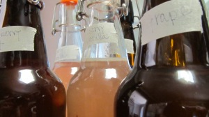 How to bottle and flavor home brewed kombucha, be sure to check out the entire series at The Ezer Wife