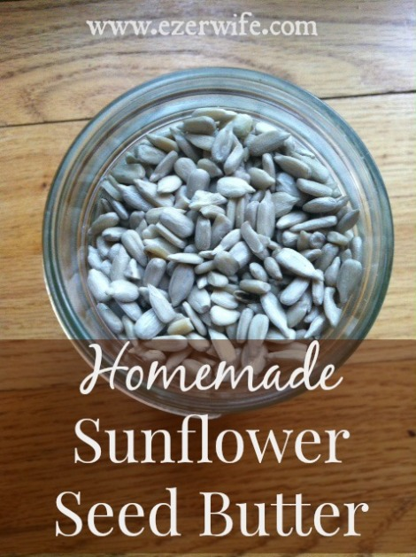 Homemade sunflower seed butter can be used in place of peanut butter, but it adds a slightly different taste. So much cheaper than store bought SunButter. // The Ezer Wife